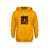 Youth Gold Fleece Hoodie-Here We Go Bucs