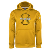 Under Armour Gold Performance Sweats Team Hoodie-Pirates Baseball w/ Seams