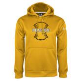 Under Armour Gold Performance Sweats Team Hoodie-Pirates Baseball w/ Seams