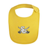 Yellow Baby Bib-Interlocking SU w/Sabers
