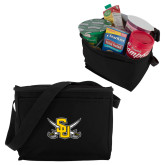 Six Pack Black Cooler-Interlocking SU w/Sabers
