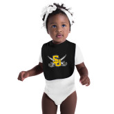 Black Baby Bib-Interlocking SU w/Sabers