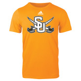 Adidas Gold Logo T Shirt-Interlocking SU w/Sabers