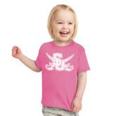 Toddler Fuchsia T Shirt-Interlocking SU w/Sabers