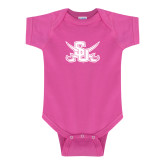 Fuchsia Infant Onesie-Interlocking SU w/Sabers