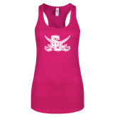 Next Level Ladies Raspberry Ideal Racerback Tank-Interlocking SU w/Sabers