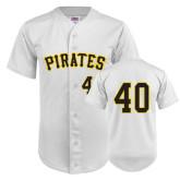 Replica White Adult Baseball Jersey-#40