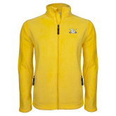 Fleece Full Zip Gold Jacket-Interlocking SU w/Sabers