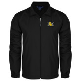 Full Zip Black Wind Jacket-Interlocking SU w/Sabers