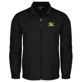 Full Zip Black Wind Jacket-Interlocking SU w/Sabers