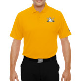 Under Armour Gold Performance Polo-Interlocking SU w/Sabers