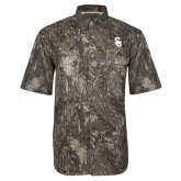 Camo Short Sleeve Performance Fishing Shirt-Interlocking SU