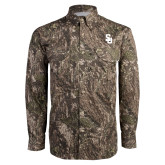 Camo Long Sleeve Performance Fishing Shirt-Interlocking SU