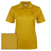 Ladies Gold Dry Mesh Polo-Interlocking SU