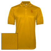 Gold Dry Mesh Polo-Interlocking SU