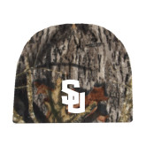 Mossy Oak Camo Fleece Beanie-Interlocking SU