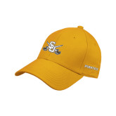 Gold Heavyweight Twill Pro Style Hat-Interlocking SU w/Sabers