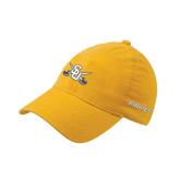 Gold Flexfit Mid Profile Hat-Interlocking SU w/Sabers