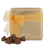 Decadent Chocolate Clusters Gold Medium Tin-Interlocking SU w/Sabers Engrave