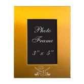 Gold Brushed Aluminum 3 x 5 Photo Frame-Interlocking SU w/Sabers Engrave