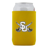 Neoprene Gold Can Holder-Interlocking SU w/Sabers