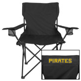 Deluxe Black Captains Chair-Pirates Word Mark