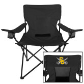 Deluxe Black Captains Chair-Interlocking SU w/Sabers