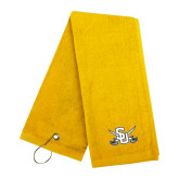 Gold Golf Towel-Interlocking SU w/Sabers