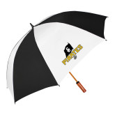 64 Inch Black/White Vented Umbrella-Official Logo