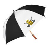 62 Inch Black/White Umbrella-Interlocking SU w/Sabers