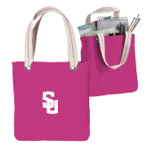 Allie Fuchsia Canvas Tote-Interlocking SU
