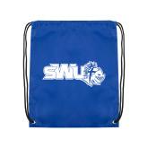 Royal Drawstring Backpack-SWU w/ Knight