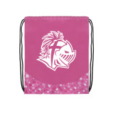 Nylon Pink Bubble Patterned Drawstring Backpack-Warrior Helmet