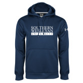 Under Armour Navy Performance Sweats Team Hoodie-University Wordmark