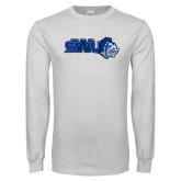White Long Sleeve T Shirt-SWU w/ Knight