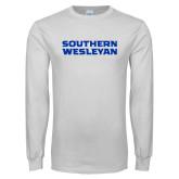 White Long Sleeve T Shirt-Southern Wesleyan