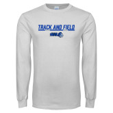 White Long Sleeve T Shirt-Track and Field Bar