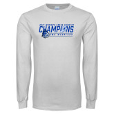 White Long Sleeve T Shirt-2017 Womens Cross Country Champions