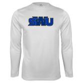 Performance White Longsleeve Shirt-SWU