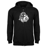 Black Fleece Full Zip Hoodie-Warrior Helmet