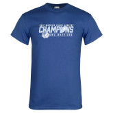 Royal T Shirt-2017 Womens Cross Country Champions