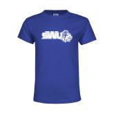 Youth Royal T Shirt-SWU w/ Knight