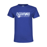 Youth Royal T Shirt-2017 Womens Cross Country Champions