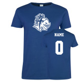Ladies Royal T Shirt-Warrior Helmet, Custom Tee w/ Name and #