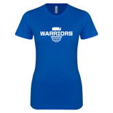 Next Level Ladies SoftStyle Junior Fitted Royal Tee-Basketball Sharp Net