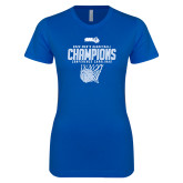 Next Level Ladies SoftStyle Junior Fitted Royal Tee-2020Mens Basketball