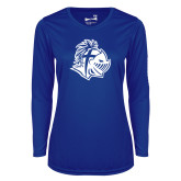 Ladies Syntrel Performance Royal Longsleeve Shirt-Warrior Helmet