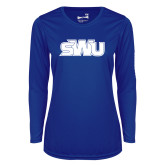 Ladies Syntrel Performance Royal Longsleeve Shirt-SWU