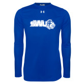 Under Armour Royal Long Sleeve Tech Tee-SWU w/ Knight