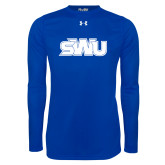 Under Armour Royal Long Sleeve Tech Tee-SWU